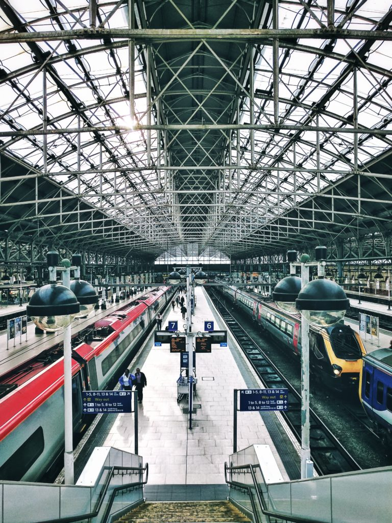 Main Train Station Manchester England